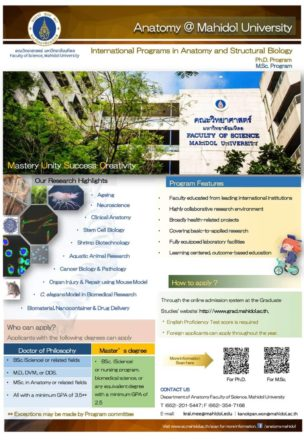 International Programs in Anatomy and Structural Biology